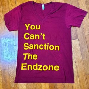 """""""You Can't Sanction the Endzone"""" v-neck"""
